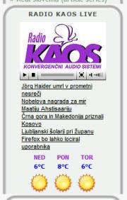 Radio KAOS widget